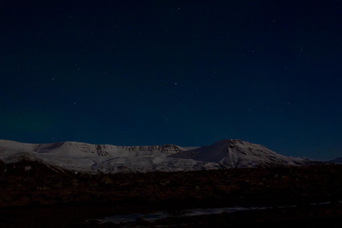 Gletscher bei Nacht