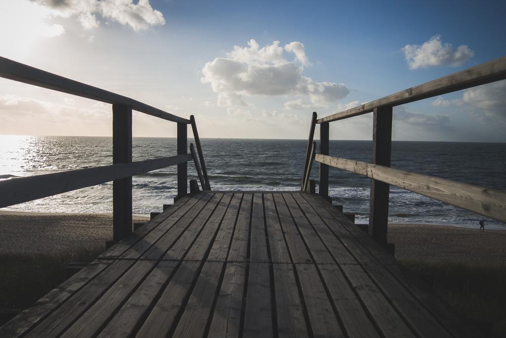 Sylt Strand Holztreppe