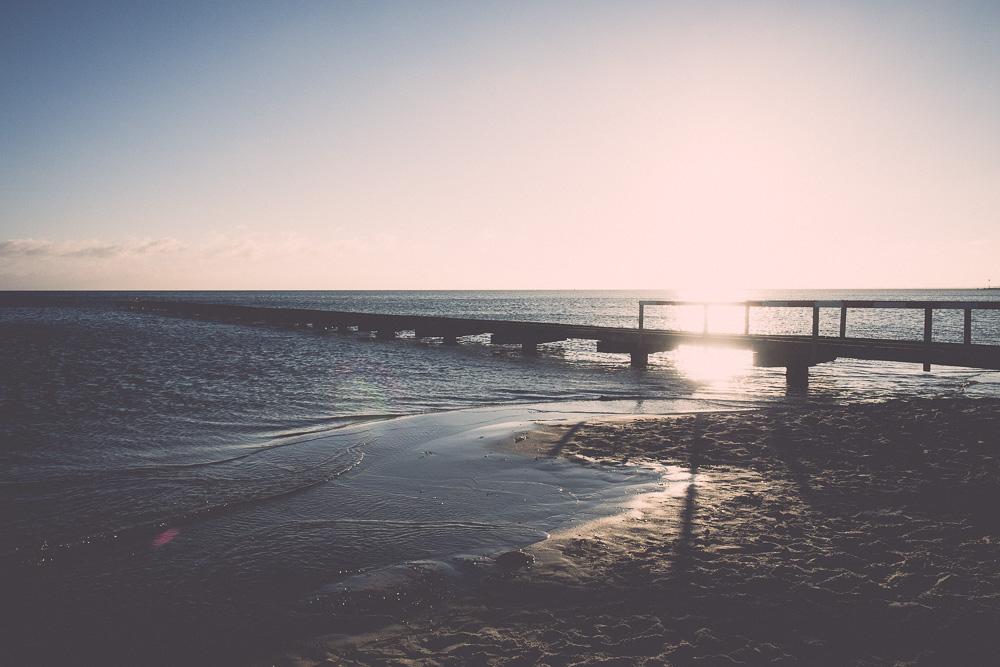 Strandspaziergang mit Meer
