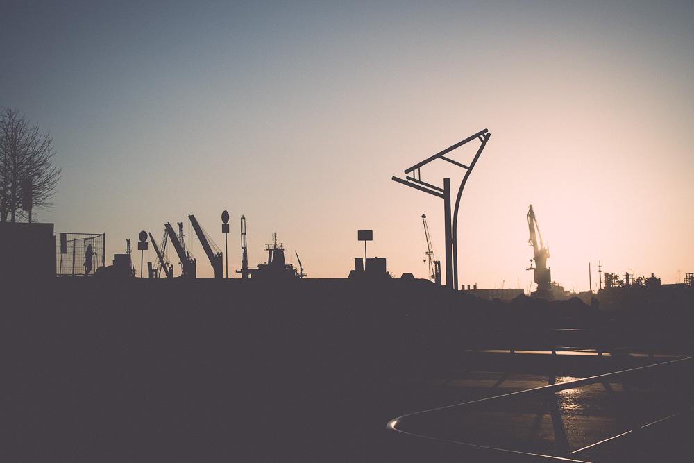 Scherenschnitt HafenCity