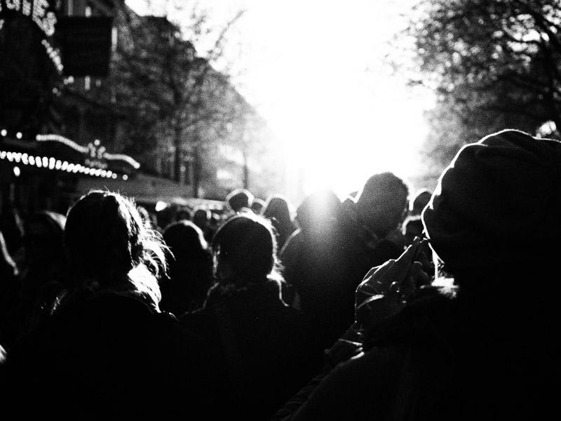 Osterstrassenfest Gegenlicht