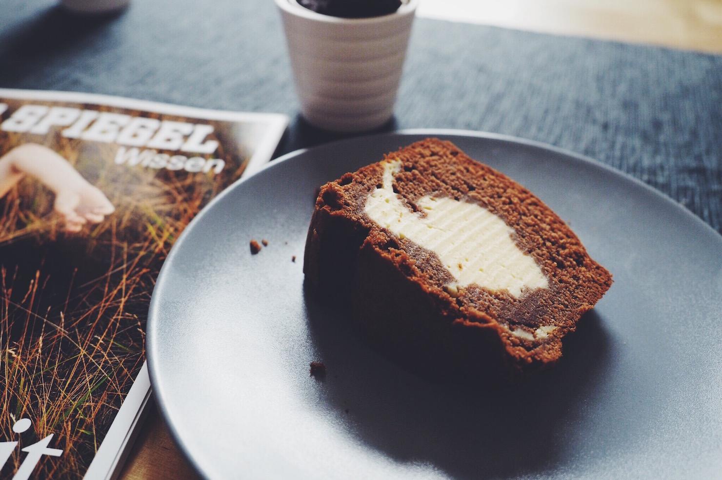 Marmorkuchen mit Cheesecake