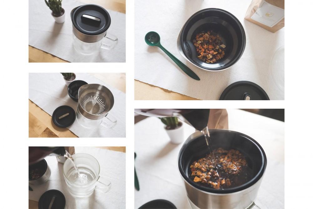 Teezubereitung mit der Tea Jane
