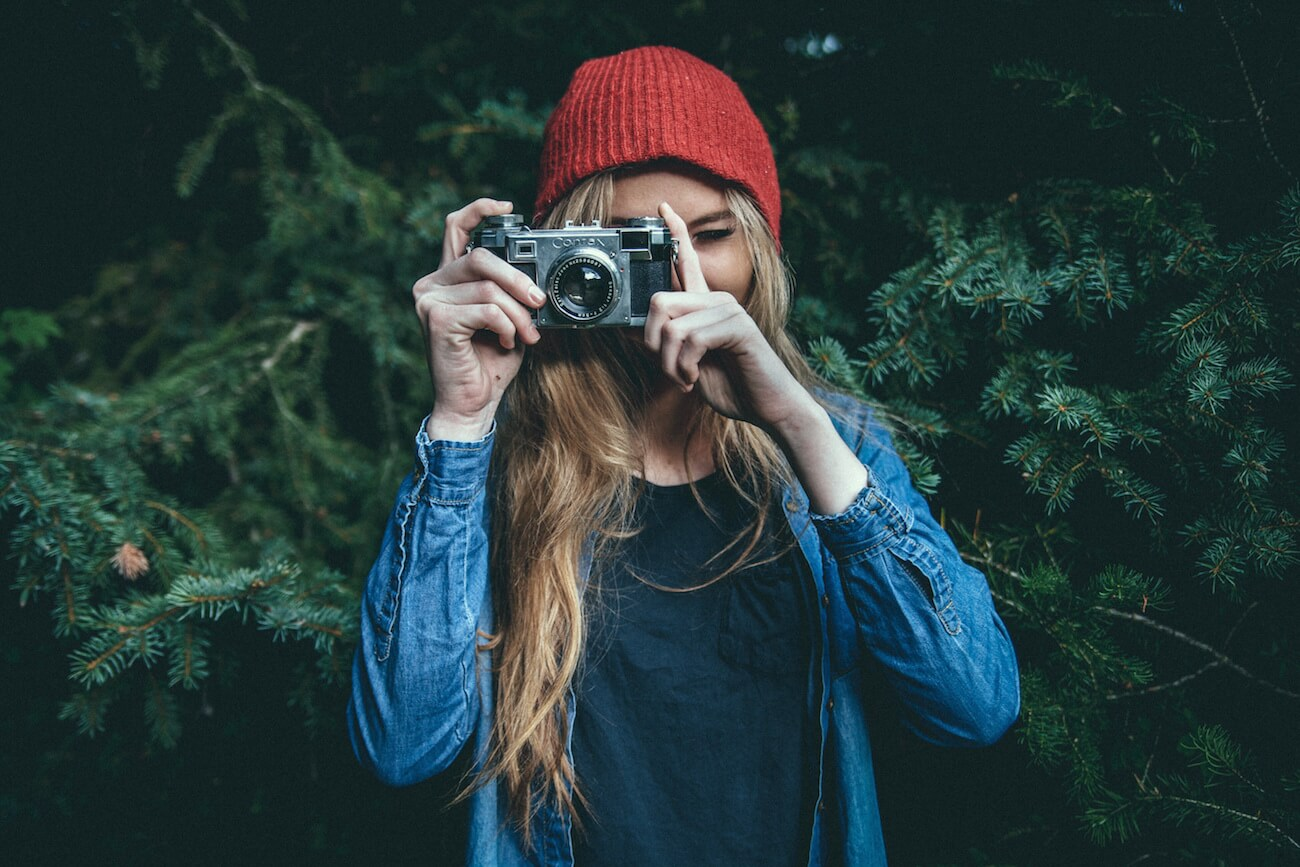 Mädchen mit Kamera