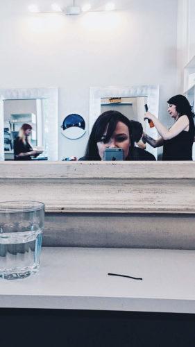 Selfie beim Frisör