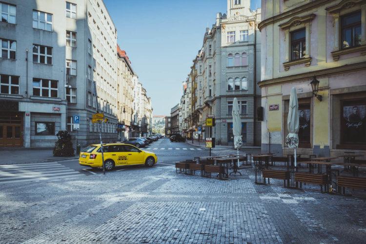 Taxi in Prag