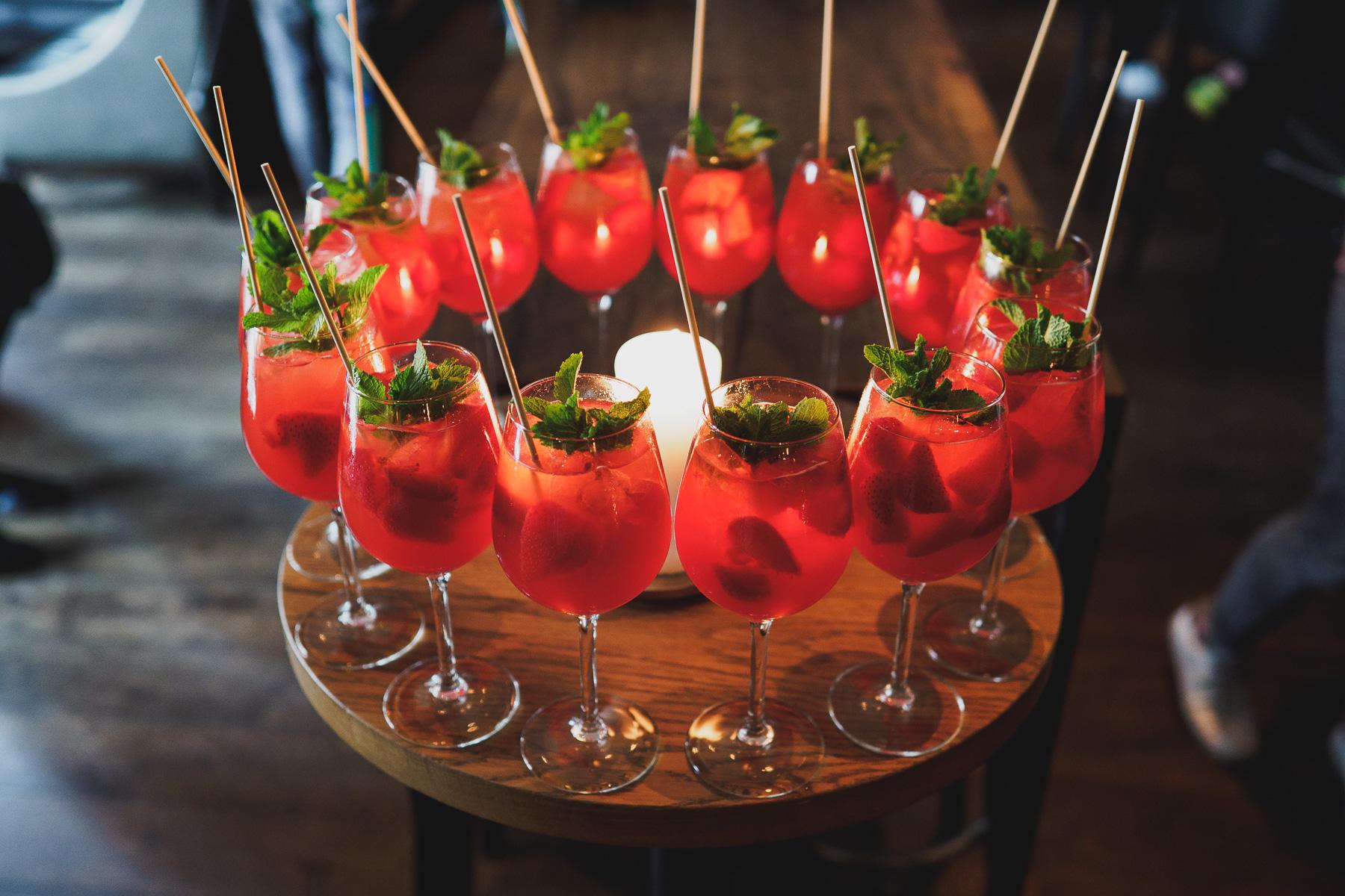 Erdbeerbowle im The George Hotel