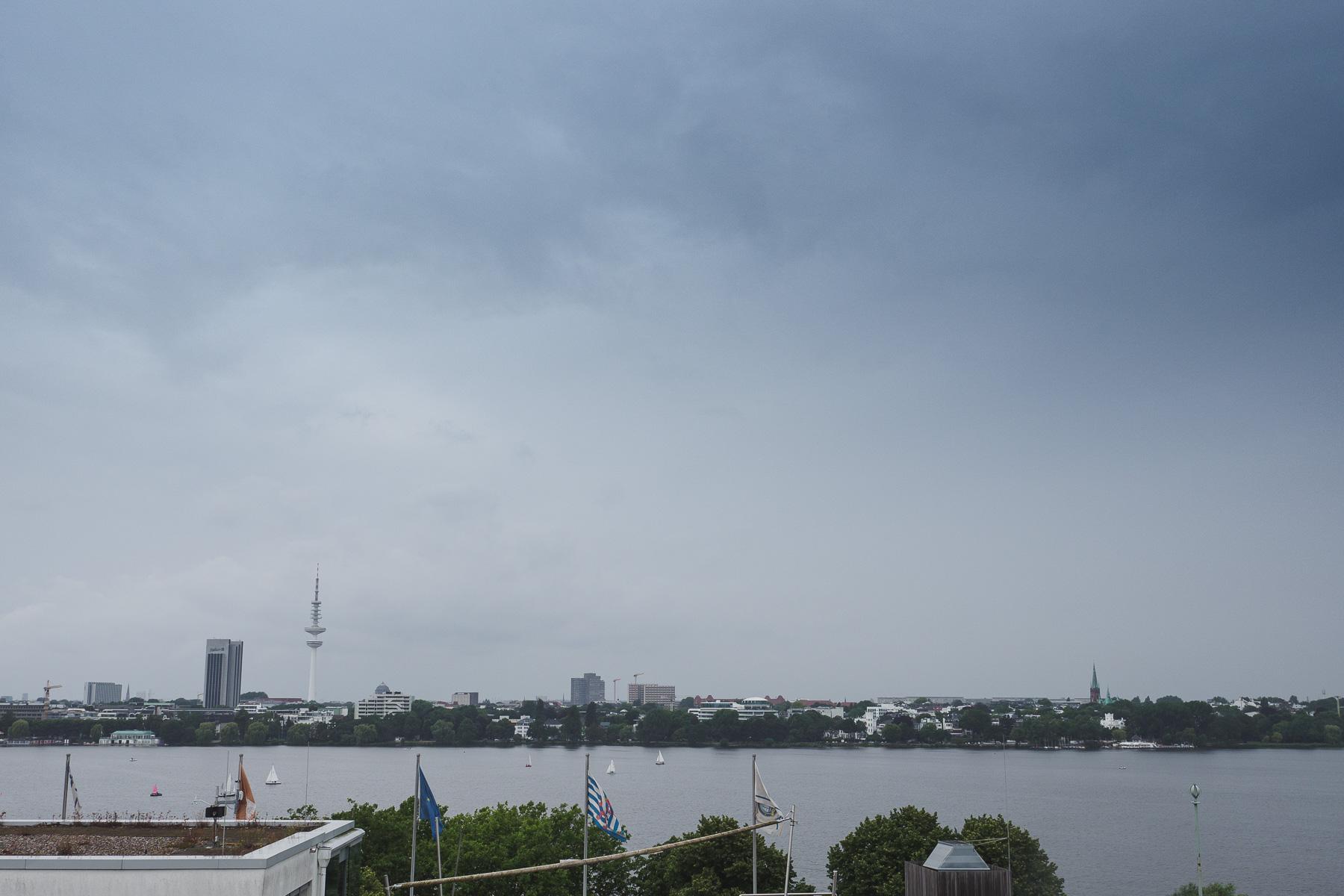 Blick über Hamburg im The George Hotel
